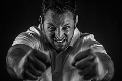 Jesse Wolverine (Gannon B) Tags: lighting portrait people blackandwhite man studio blackwhite nikon d750 strobe strobist