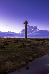 Join Sky and Earth (will.mc144) Tags: sunset sky clouds landscape evening landscapes religion moors northyorkmoors navigation ralphscross