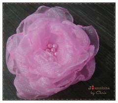 Imagem 057 (Joanninha by Chris) Tags: pink baby handmade flor artesanato rosa beb fita organza bordado sapatinho feitoamo enxovalmenina enxovalbeb