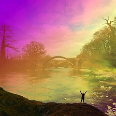 Cromwell's Bridge (Celebrating over 2 million views. Thank you) Tags: bridge playing silhouette fun exposure view hill double filters pendle cromwells hurstgreen