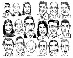 Earthlings (Don Moyer) Tags: moleskine face ink notebook grid faces drawing moyer brushpen donmoyer