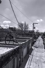Bloomingdale Trail east pic14 4-25-2016 (Artemortifica) Tags: street bridge sky chicago cars clouds buildings construction blueline crane bikes graffity milwaukee western trucks damen