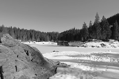 Island in a Frozen Lake (winkler.roger) Tags: lake landscape island switzerland mountainlake flims grison flem caumasee surselva lakecauma laglacauma