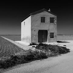house in the albufera (dan.boss) Tags: blackandwhite bw house valencia rural canon square albufera g7x canong7x