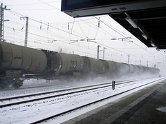 Goods train stirs snow train station Herford Germany 26th January 2014 snow  26-01-2014 12-26-22 (dennoir) Tags: snow station train germany january goods herford 26th stirs 2014 122628 26012014
