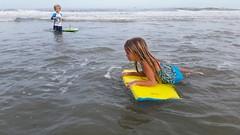 The Kids At Mickler's Beach (Joe Shlabotnik) Tags: cameraphone ocean beach florida violet pontevedra everett boogieboard 2015 micklersbeach galaxys5 december2015