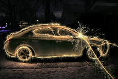 Fun With Sparklers! (tieulinhclc - Thanks for 2 million + views) Tags: car illinois nightlights sparklers il nighttime rockford dazzlingshots dlphotography dandlphotography