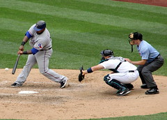 A Princely swing (NJ Baseball) Tags: seattle washington mariners safecofield batting texasrangers seattlemariners hitting americanleague 2015 daygame princefielder majorleagues
