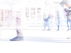 the shoes - black shadow (DMotown) Tags: people blur feet walking movement shoes day bright passages highkey passing