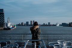 DSCF2366 (FCarboni) Tags: sea sky people water girl portraits 35mm boat rotterdam ship fuji wind 14 fujifilm speedo fujinon