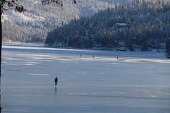 First Skating of 2016 (jackbaratta) Tags: lake ice reflections skating washingtonstate libertylake