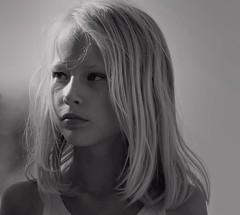 Silke b/w (TazNoMore) Tags: portrait blackandwhite bw cute girl beautiful face lady kid nikon pretty child little young blonde 10yo portraitofface d5300