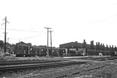 CNW Shops at Clinton, IA on August 12, 1964 (railfan 44) Tags: chicago northwestern