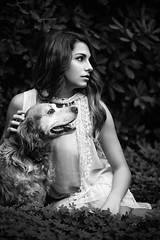 Simona (crimson.sunrise) Tags: portrait bw dog nature girl cane monocromo model looking persone stare ritratto 2015 simonelunardi