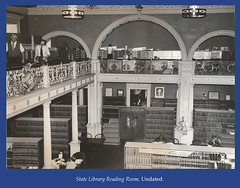 State Library Reading Room and Balcony, undated (State Library of Massachusetts) Tags: bostonmassachusetts massachusettsstatehouse massachusettslegislature statelibraryofmassachusetts