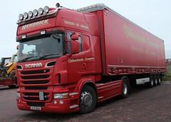 Hendrick European (fannyfadams) Tags: uk ireland irish wagon transport lorry vehicle anglesey northwales holyhead haulage a55 haulier rseries hendrickeuropean roadkingtruckstop scanar560