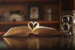 Valentine's Hearts (Symbiosis) Tags: camera macro love film rolleiflex hearts reading books retro candyhearts iloveyou sweethearts truelove valentinesday loveofreading 100mmmacro readingbooks mediumformatfilm 120mmfilm canon5dmarkii