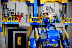 Eagle Mk. 1 Docked Detail (Wafna-204) Tags: robot lego bricks mecha mech afol legospace legophotography wafna204