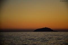 Isola del Tino (greta.ferrari) Tags: sunset sea tramonto mare laspezia isoladeltino golfodellaspezia nikond5100 isolesolitarie