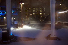 snow (Ian Muttoo) Tags: winter snow toronto ontario canada reflection reflections frost gimp bceplace snowfall ufraw allenlambertgalleria brookfieldplace studiofminus snowfallfrost dsc52651edit
