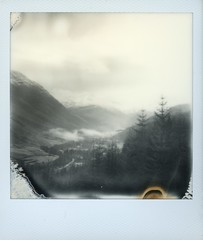 Glen Nevis (Mark Rowell) Tags: film polaroid sx70 scotland highlands instant fortwilliam glennevis