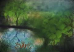at the water (Swissrock) Tags: trees photoshop painting january brush photoart photopainting 2016