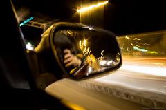 DSC09383 (domado2009) Tags: longexposure nightphotography night drive mirror sony croatia zagreb lighttrails nightphoto sonyalpha a6000 sonya6000