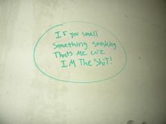 I'm the shit! (chrisrandall7) Tags: street urban building art abandoned me swansea graffiti im massachusetts exploring shit something smells cuz