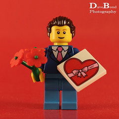 Be My Valentine (Dave Bond Photography) Tags: flowers toy heart lego chocolate valentine minifig