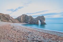 © Andrew Unwin (Andrew Unwin) Tags: door uk sea england cliff seascape beach canon landscape coast exposure waves slow south pebble lee dorset seafront filters 6d durdle