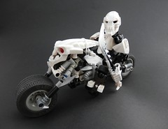 Skull Rider (Kingmarshy) Tags: dog bike skull factory lego hero bones vehicle opening vault papyrus rider bionicle sans the moc nyooooooom