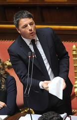 Il presidente Renzi durante il suo intervento al Senato (Palazzochigi) Tags: palazzo senato consiglioeuropeo madama matteorenzi