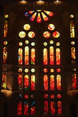 Stained-glass Windows (Shinichiro Hamazaki) Tags: barcelona spain stainedglass gaudi stainedglasswindows sagradafamlia   sagradafamillia