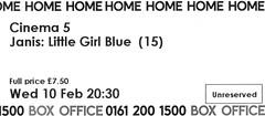 Janis: Little Girl Blue @ Home, Manchester 10/2/2016 (stillunusual) Tags: uk england cinema film home movie manchester documentary ticket janisjoplin mcr 2016 littlegirlblue musicdocumentary