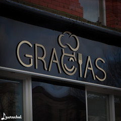 Gracias (gigchick) Tags: england liverpool restaurant tour thankyou gracias cab taxi beatles greeting fab4 thebeatles fabfour
