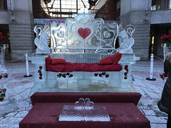 Ice Sculptures in BOSTON. (Polterguy30) Tags: roses sculpture ice rose boston massachusetts valentine valentines valentinesday icesculptures icesculpture