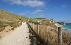 Dorset Coast, England (east med wanderer) Tags: uk sea england walking coast chalk path cliffs unesco worldheritagesite dorset durdledoor jurassiccoast downland southwestcoastpath
