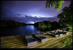 Tormenta nocturna sobre el rio Negro