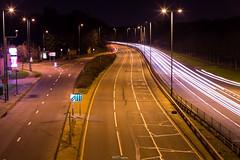 A3 Robin Hood Way, Kingston Upon Thames (LFaurePhotos) Tags: road longexposure london lampost lane freeway a3 lighttrails flyover southwestlondon dualcarriageway coombelane royalboroughofkingstonuponthames robinhoodway
