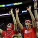 Wolfpack fans celebrate a three-pointer.