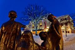 Palais Montcalm (marko.erman) Tags: christmas city blue light canada tree tower night plante la quebec branches sony illuminations hour palais fortification extrieur arbre citadelle montcalm enchevtrement