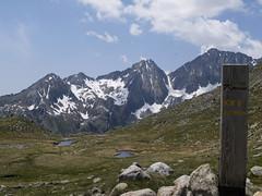 W drodze na Tuc de Vielha.widok na szczyty Talada