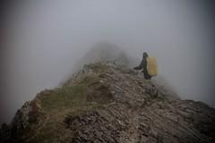 Striding edge, Helvellyn (CUTHUT.TV) Tags: cloud mountain weather fog danger edge mountaineering climber helvellyn striding hillwalker
