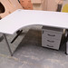 Grey laminate desk radial