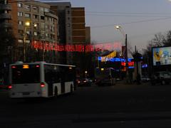 Patriotic Christmas lights in Bucharest (cod_gabriel) Tags: winter night lights december dusk christmaslights romania bucharest bucuresti decembrie bukarest roumanie apartmentbuildings noapte boekarest bucarest blocksofflats winterholidays romnia tineretului bucureti iarn sarbatori asfintit bucareste srbtori asfinit sarbatoriledeiarna srbtoriledeiarn