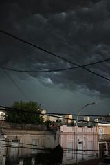 El manto elctrico (homeroprodan) Tags: street city storm argentina rain clouds canon landscape calle lluvia ciudad paisaje cables wires nubes cordoba tormenta misfotos t3i 600d