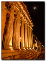20080318_1932 (gabrielpsarras) Tags: moon building monument architecture night outdoors downtown athens greece historical column zappeion