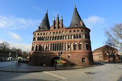 Holstentor gate (bennychun) Tags: ice church germany gate europe gothic queen tor hbf lubeck league burg holstentor deutsche hanseatic
