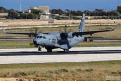 Airbus Military --- CASA C-295 --- EC-296 (Drinu C) Tags: plane casa aircraft aviation military sony panning dsc mla c295 ec296 lmml airbusmilitary hx100v adrianciliaphotography