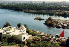 1992 - Upper Egypt - The White Begum's Residence at Aswan (bellrockman2011) Tags: egypt nile temples pyramids aswan trajan antiquities pharaohs cataracts begum agakhan